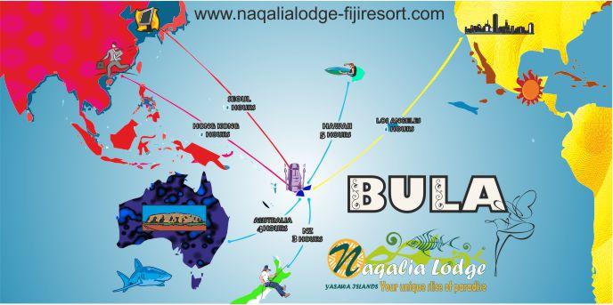 bula map fiji and yasawa islands